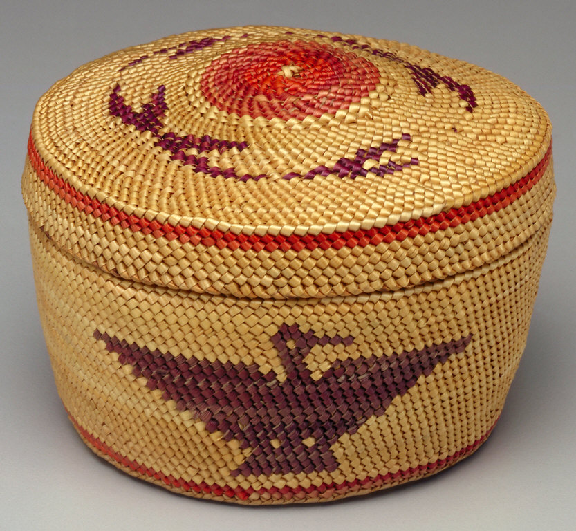 Small Round Basket in Bandbox Shape