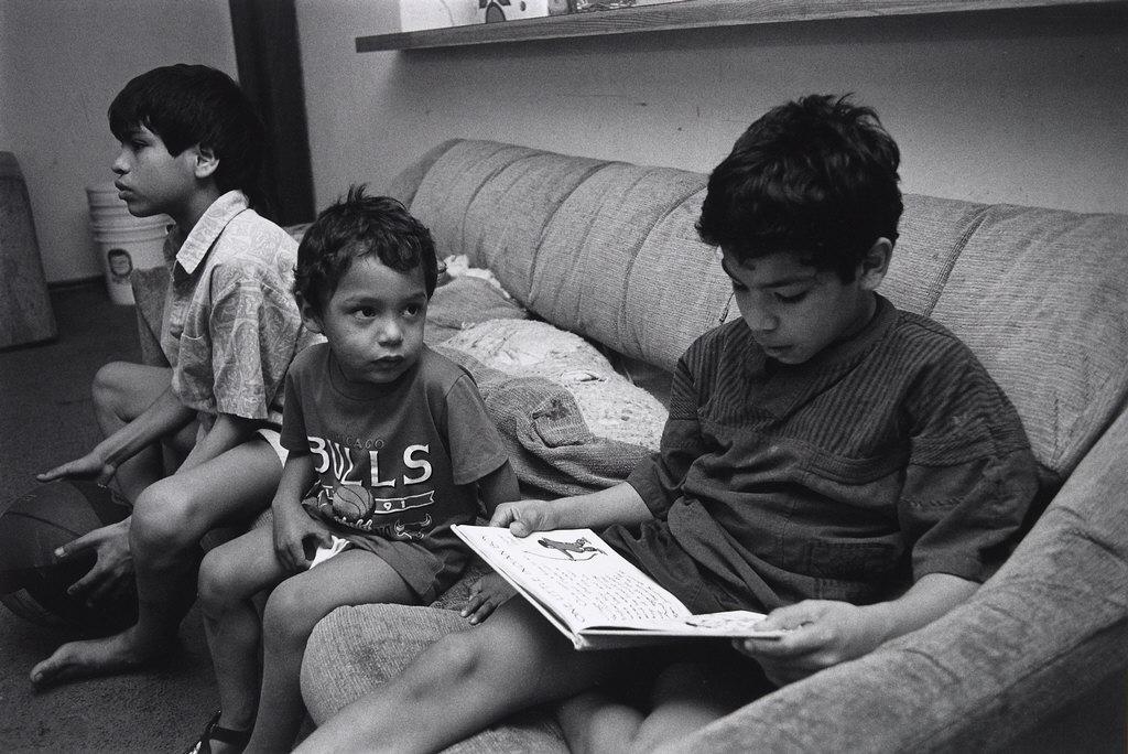 Boy Reading, Frogtown