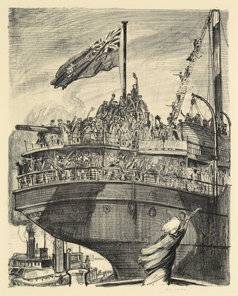 Departure of a Troopship