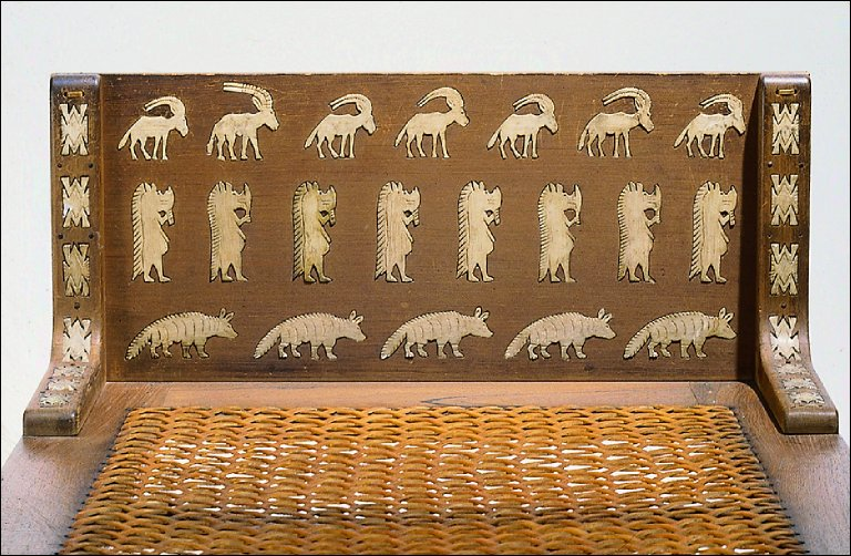 Bed with ivory inlays (reproduction)