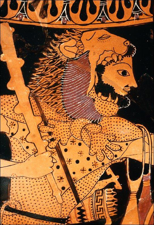 Amphora with Herakles and the Cretan bull