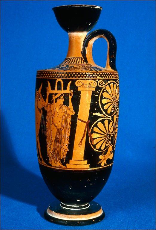 Lekythos (oil bottle) with sacrificial procession