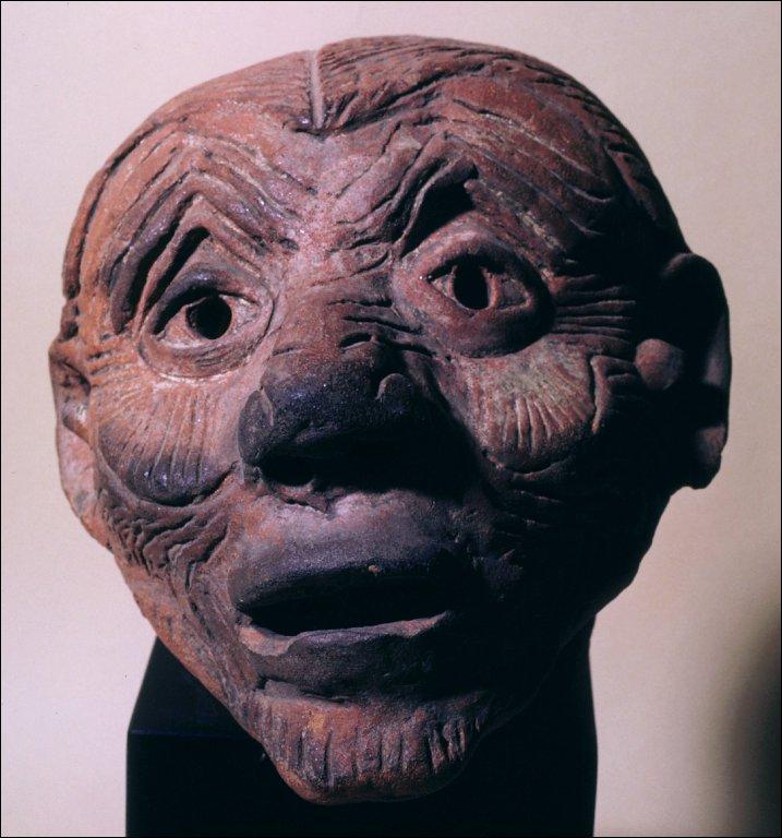 Head of an old man (huehueteotl)
