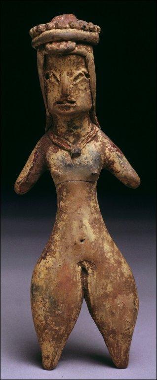 Figurine with headdress