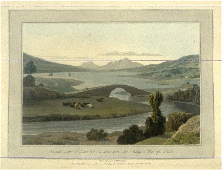 Distant View of Cruachan, taken near Arros bridge, Isle of Mull