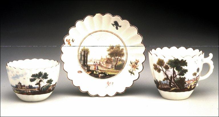 Tea Bowl, Coffee Cup, and Saucer