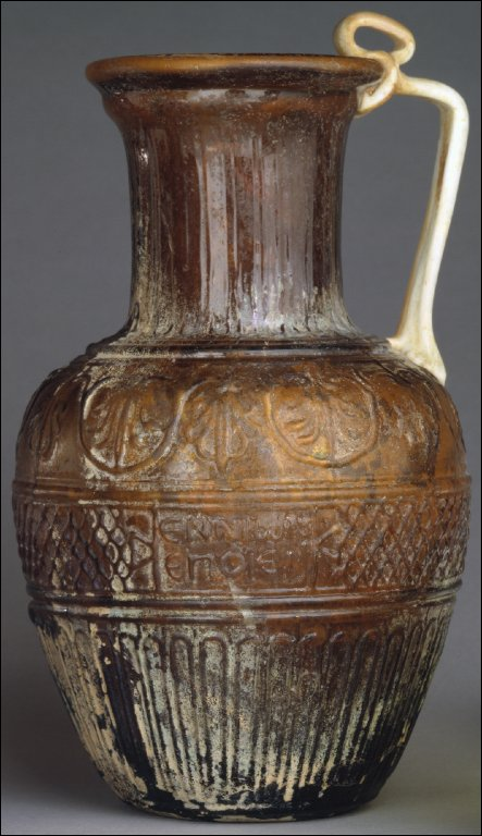 Mold-blown vessel signed by Ennion