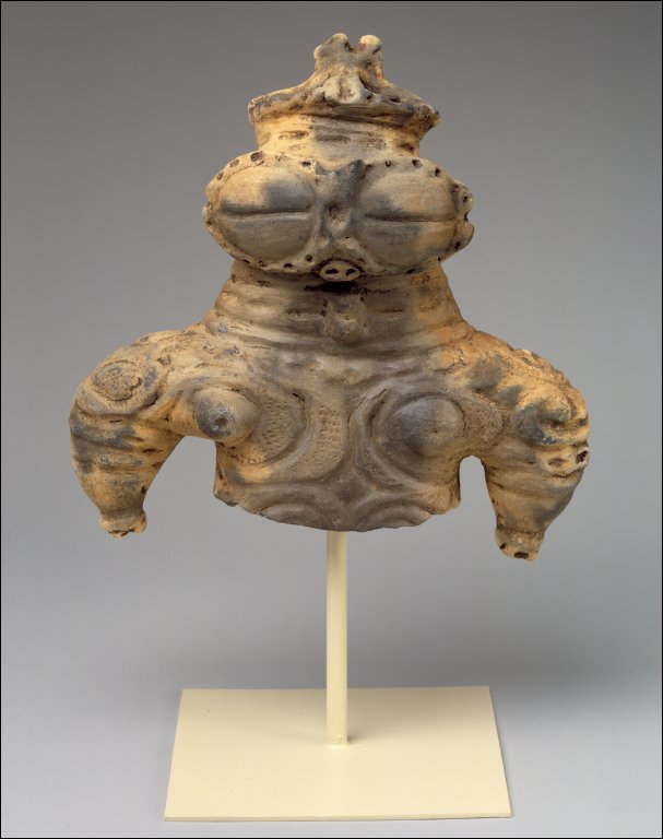 Bust of a female figurine