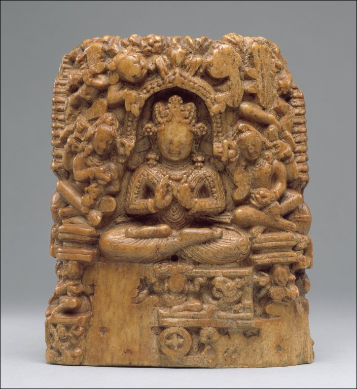 Reliquary (?) with scenes from the life of the Buddha