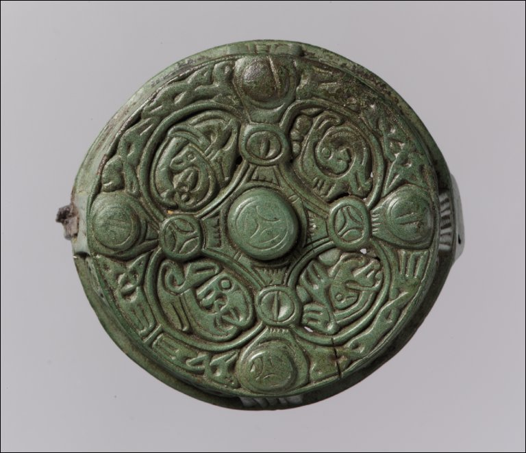 Round Box Brooch