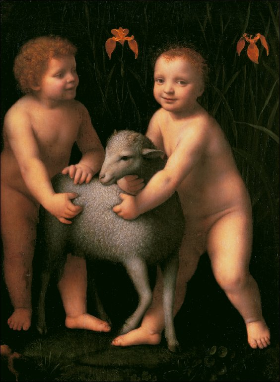 The Christ Child and the Infant John the Baptist with a Lamb