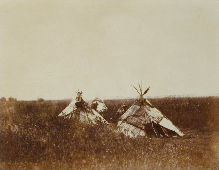 Birch Bark Tents, West Bank of Red River, Middle Settlement