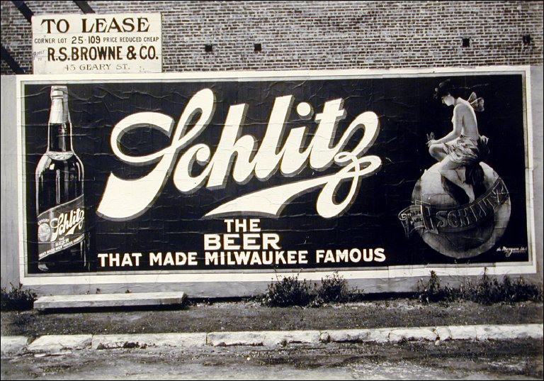 Schlitz Beer Billboard