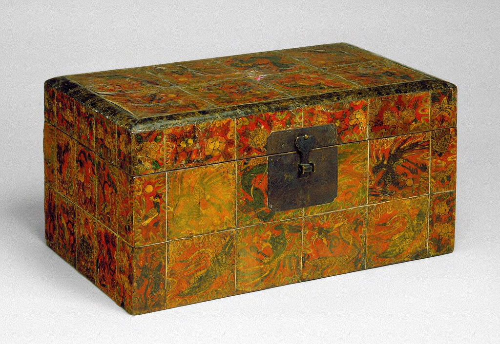 Box with Design of Auspicious Symbols