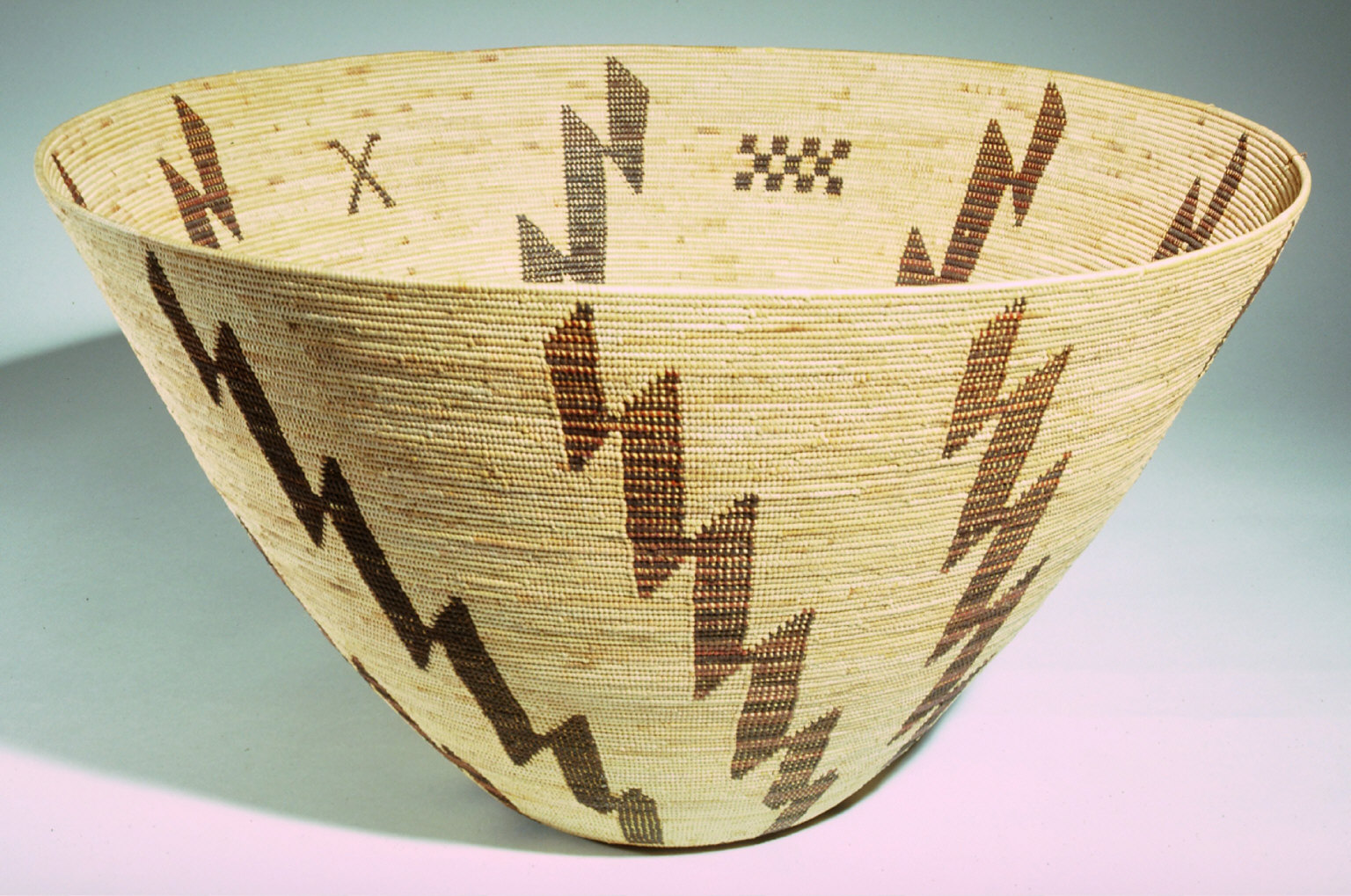 Twined storage basket