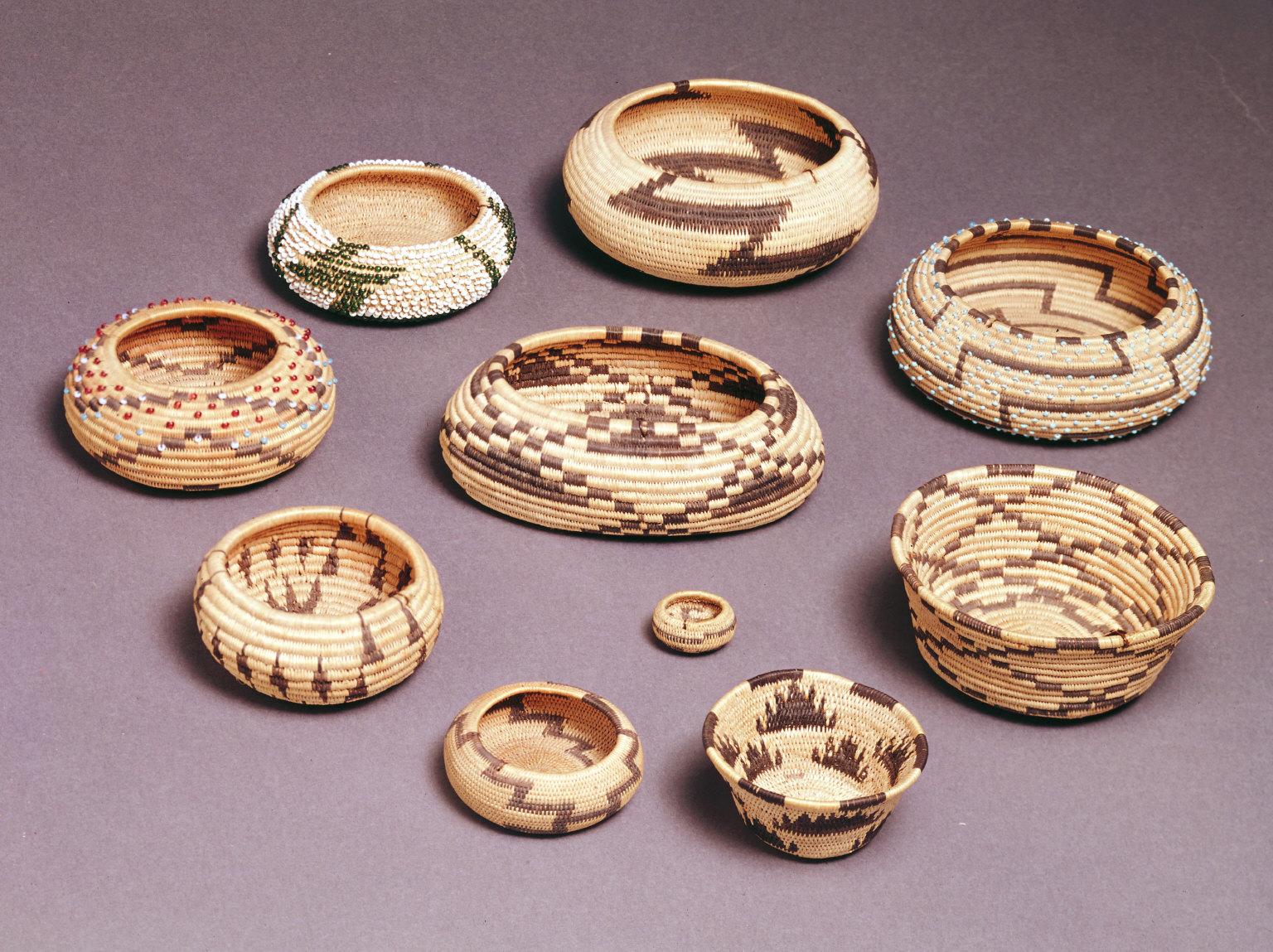 Basket with three miniature baskets inside