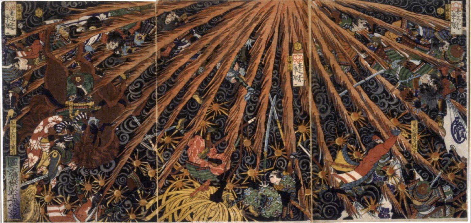 Masakiyo's Difficult Battle from Taiheiki Chronicles (Taiheiki Masakiyo nanzen no zu)