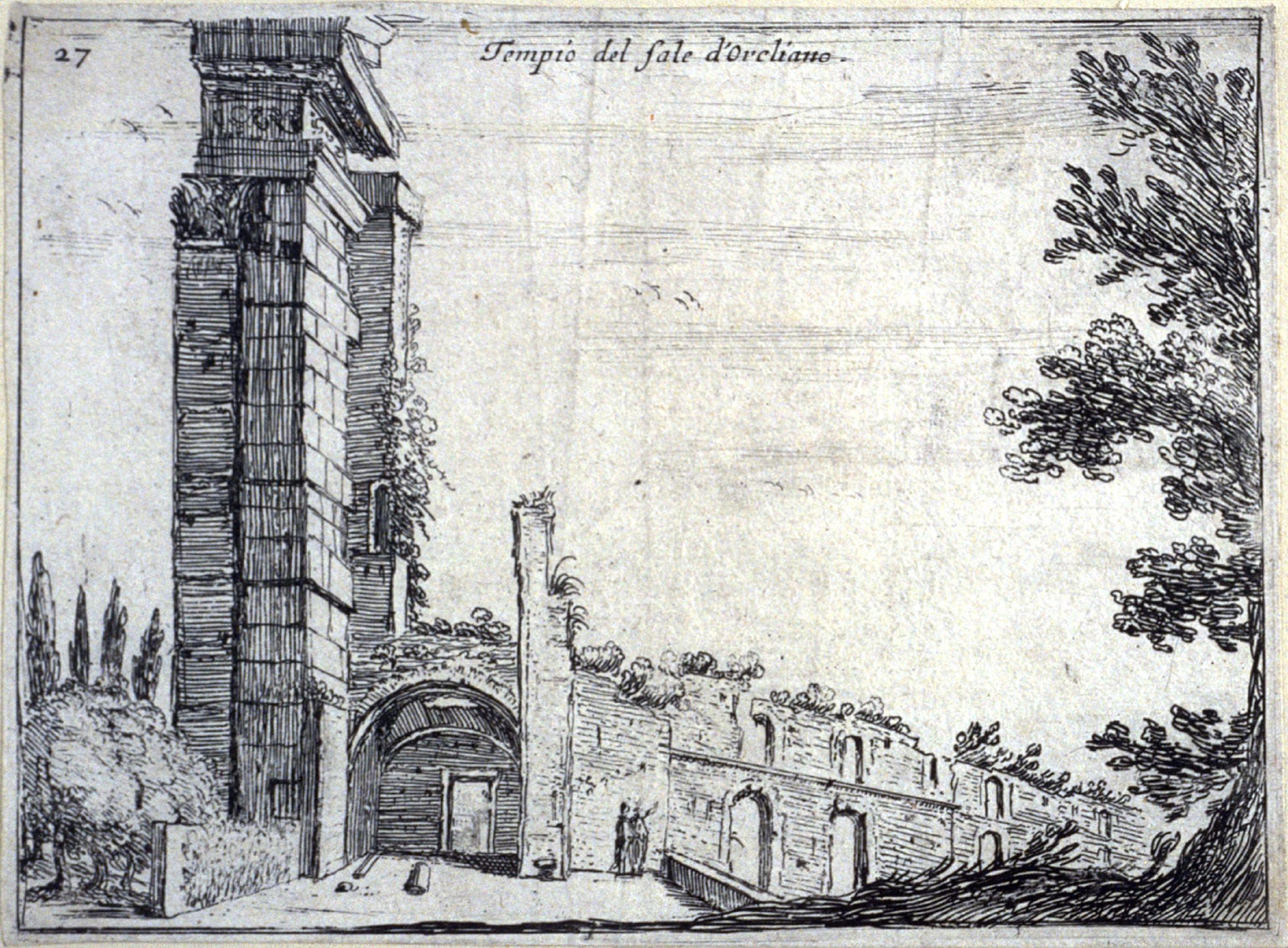 Temple del sole dOreliano (Aurelian Temple of the Sun), pl. 27 from the series Alcune vedute et prospettive di luoghi dishabitati di Roma (Some Views and Perspectives of the Uninhabited Places of Rome)
