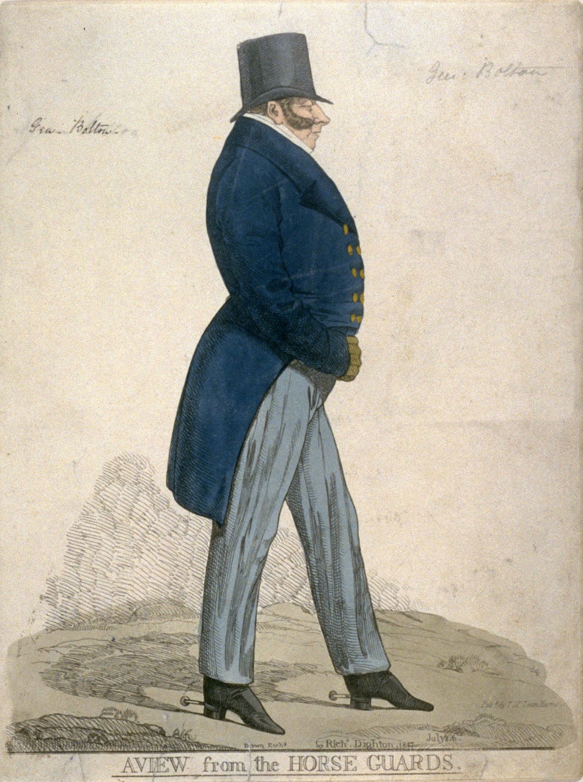 """Caricature (full figure) of General Bottom - """"A View from the Horse Guards"""""""