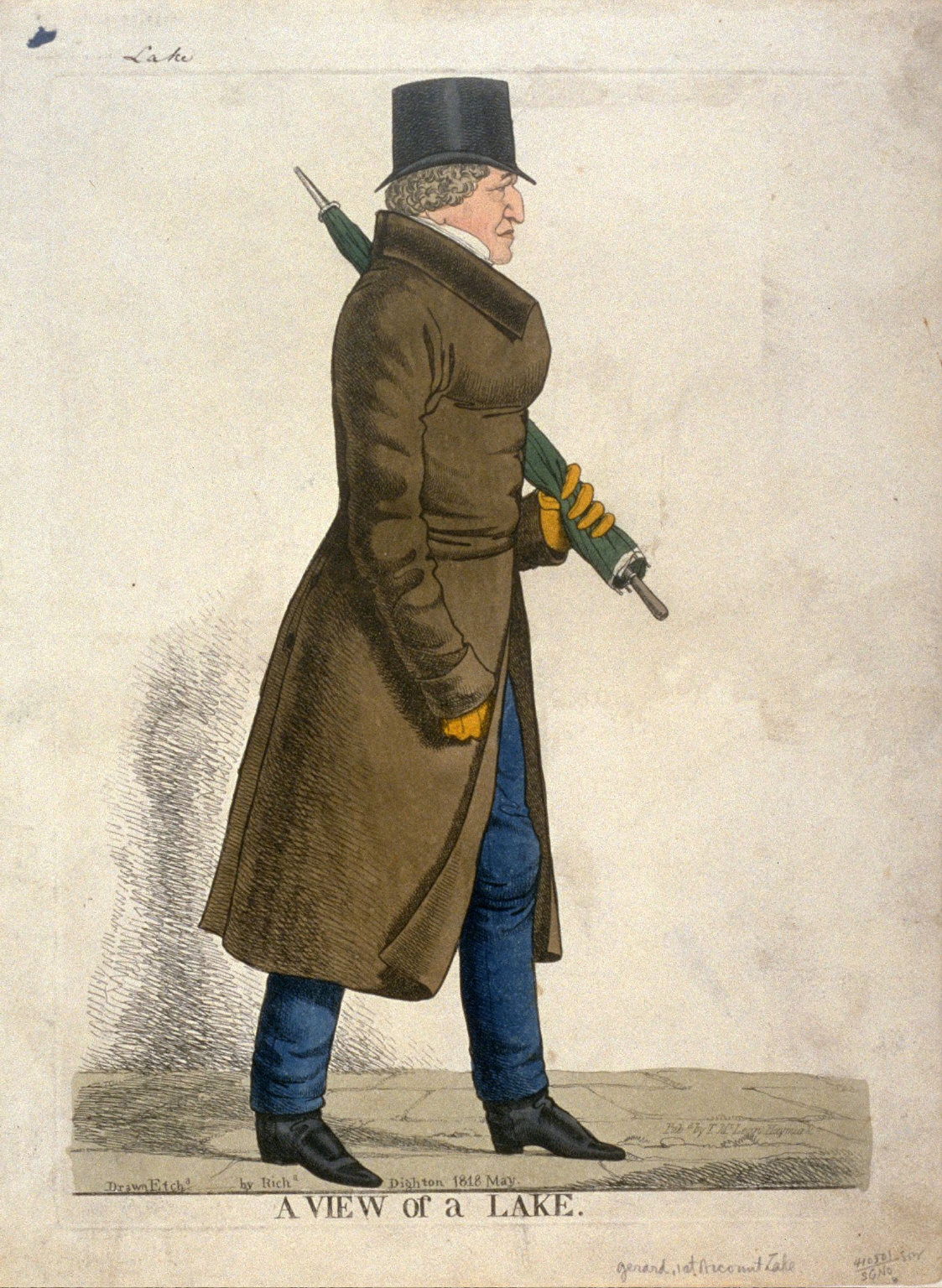 """Caricature (full figure) of Gerard, 1st Vicount Lake - A View of the Lake"""""""