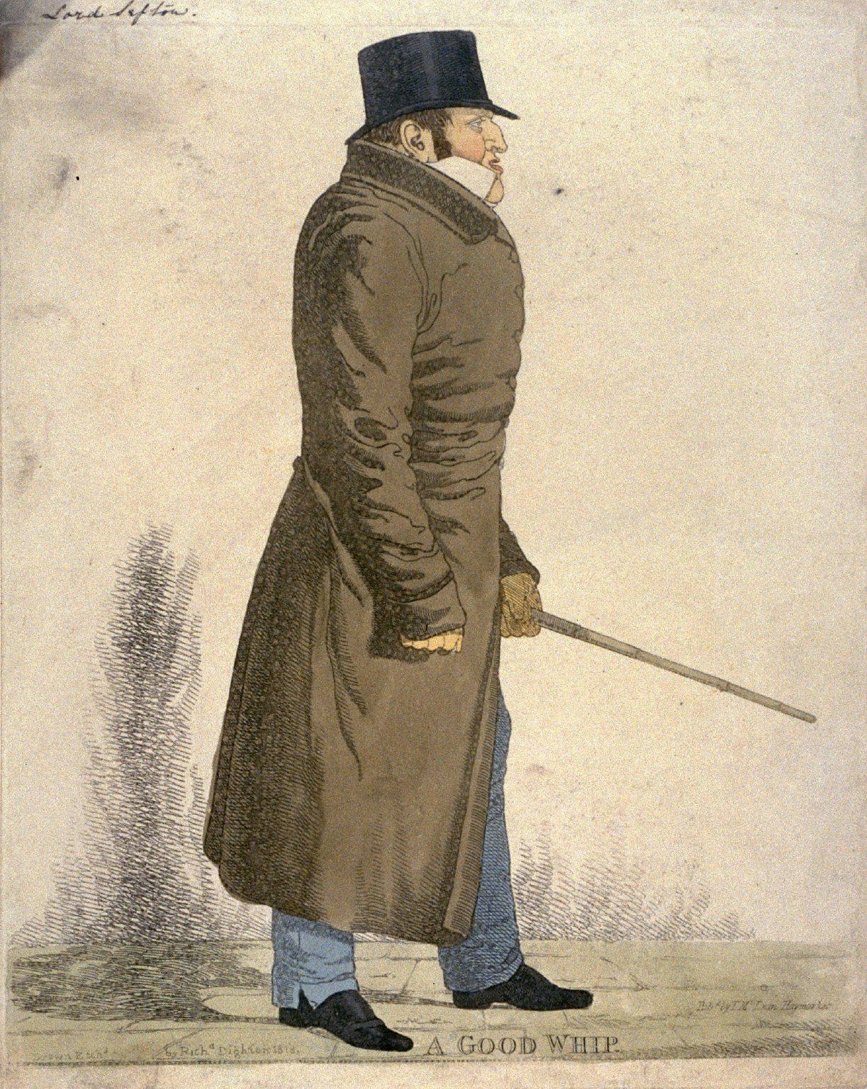 """Caricature (full figure) of Earl of Sefton - """"A Good Whip"""""""