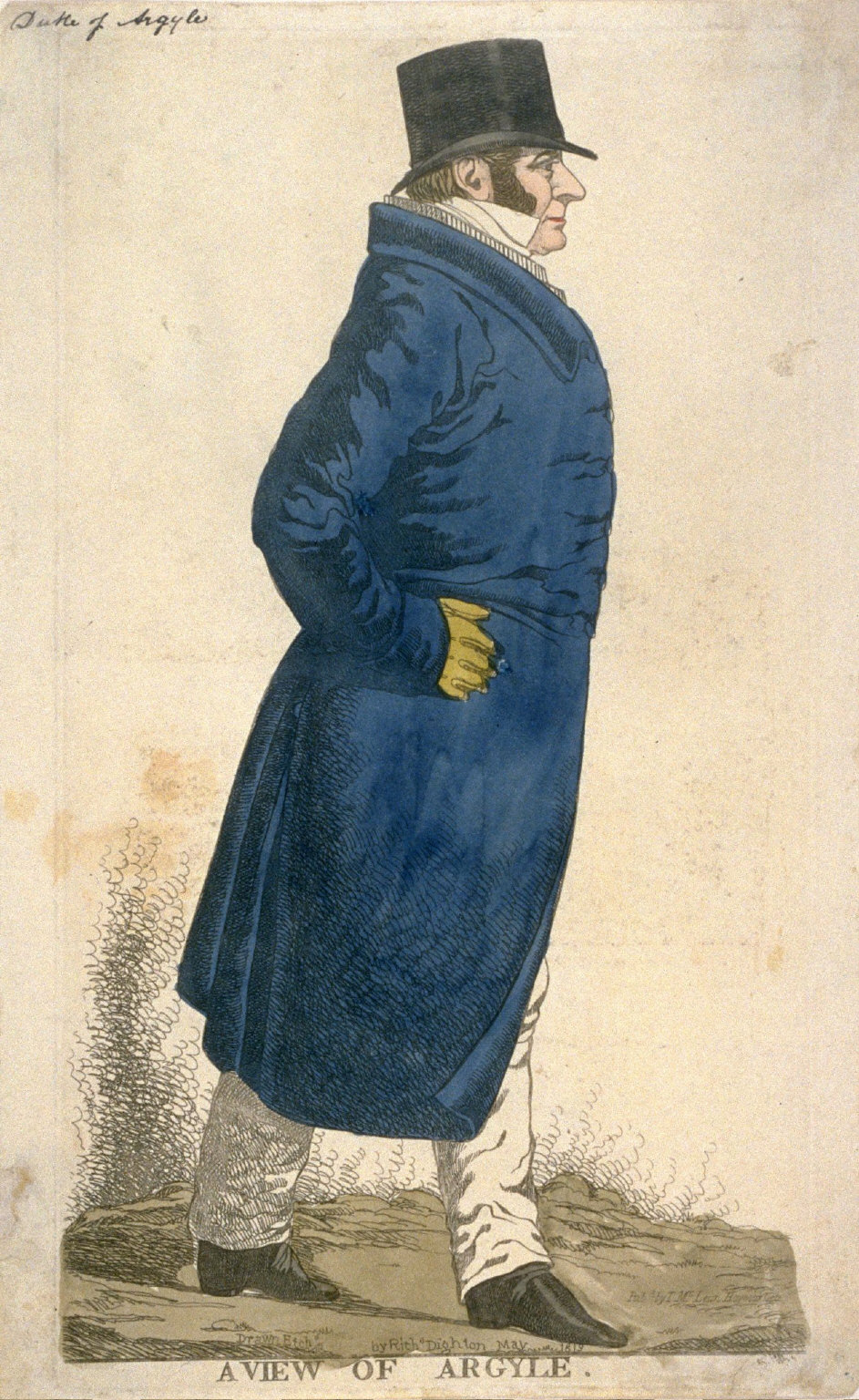 """Caricature (full figure) of Duke of Argyll - """" A View of Argyle"""""""