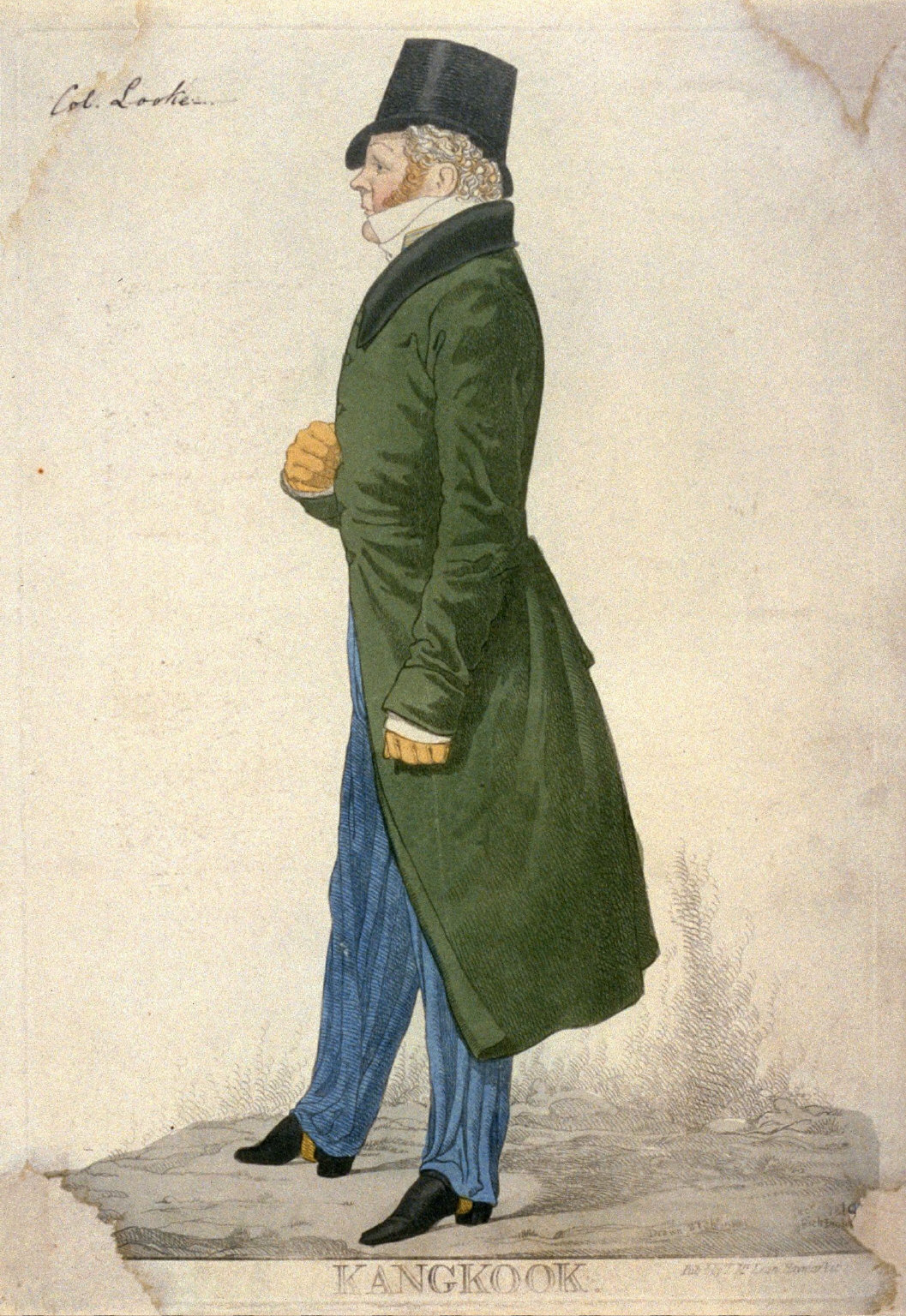 "Caricature (full figure) of Sir Henry Frederick Cook - ""Kangkook"""