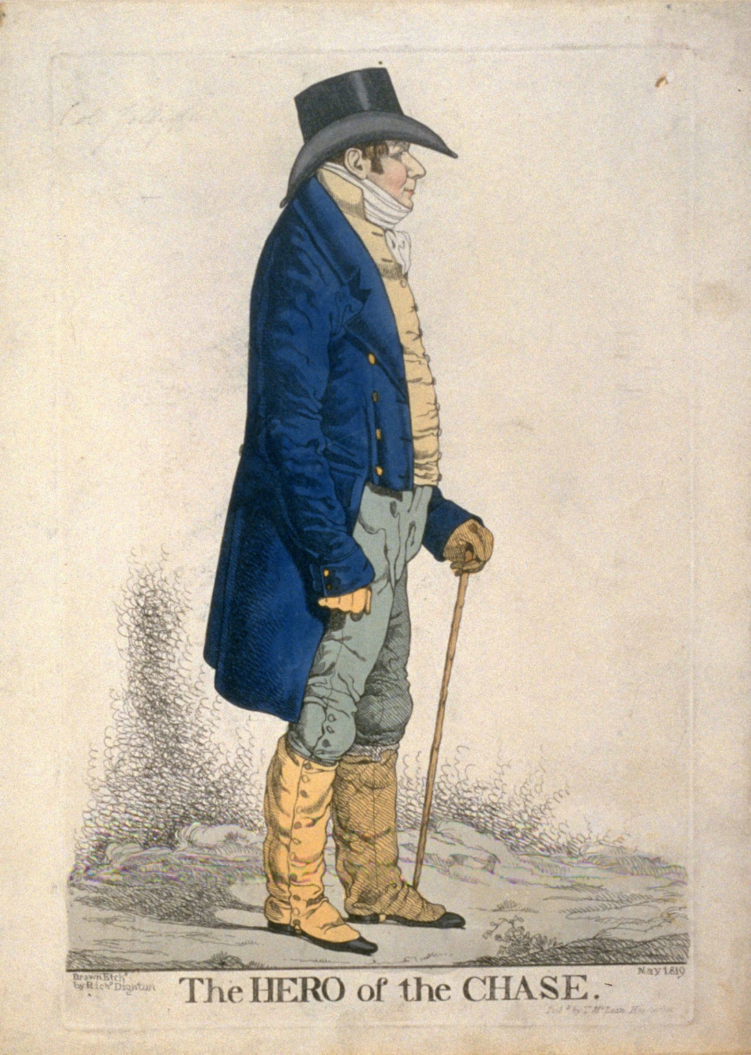 """Caricature (full figure) of Colonel Jolliffe - """"The Hero of the Chase"""""""