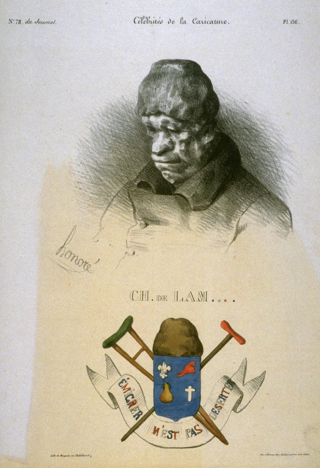 Charles de Lameth plate no. 156 published in La Caricature 26 April 1832
