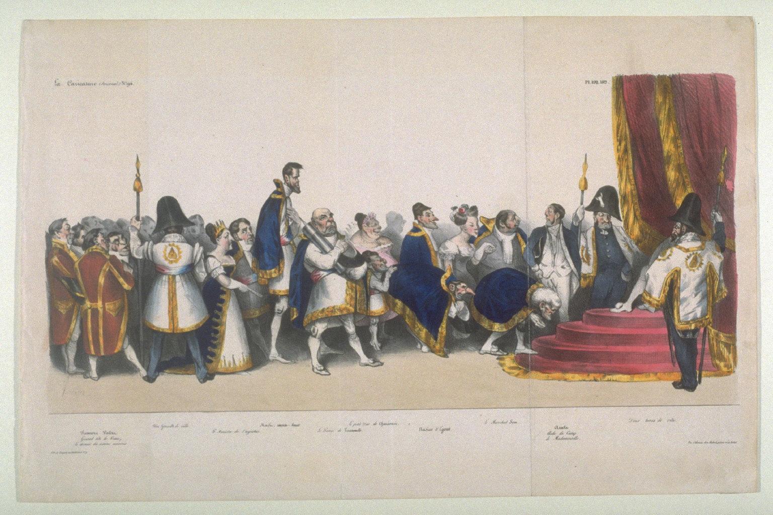 La cour du roi Petaud published in La Caricature, 23 August 1832