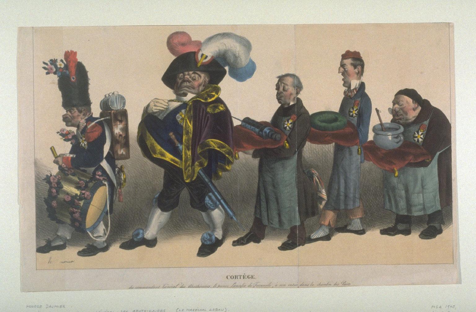 Cortege du Commandant General des Apothicaires published in La Caricature, 1 August 1833