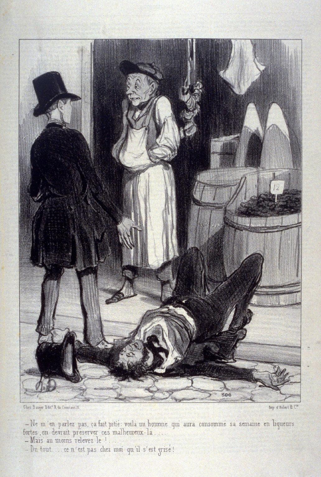 Ne men parlez pas, ça fait pitié. . ., no. 8 from the series VULGARITÉS , published in La Caricature 5 September 1841
