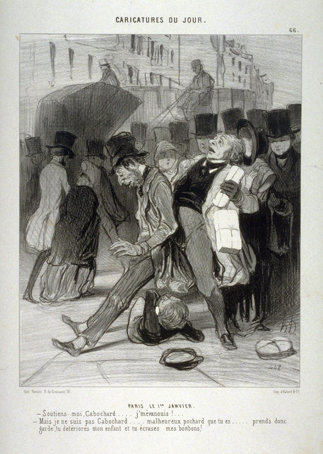 PARIS LE 1ER JANVIER., no. 66. from the series CARICATURES DU JOUR