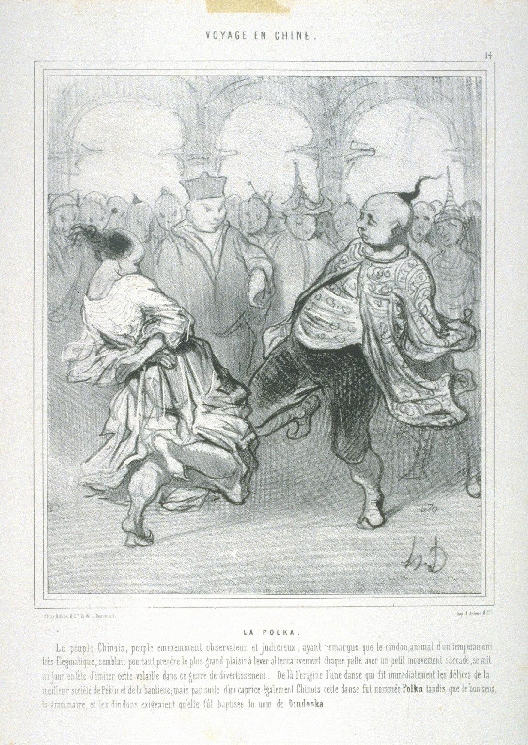 LA POLKA, no. 14 from the series, VOYAGE EN CHINE