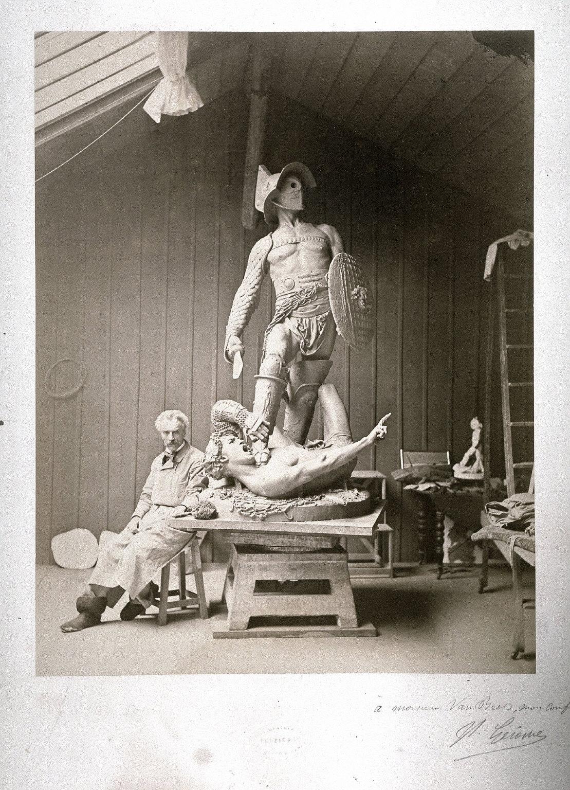 Jean-Léon Gérome in His Studio