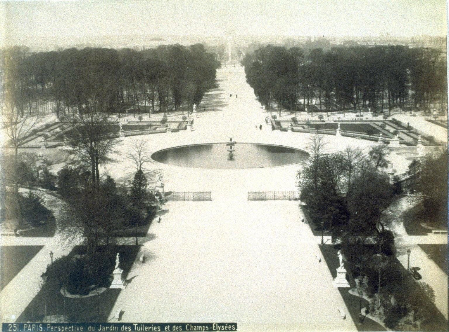Paris, Perspective du Jardin des Tuileries et des Champs-Elysées ( Paris, View of the Garden of the Tuileries and the Champs-Elysées)