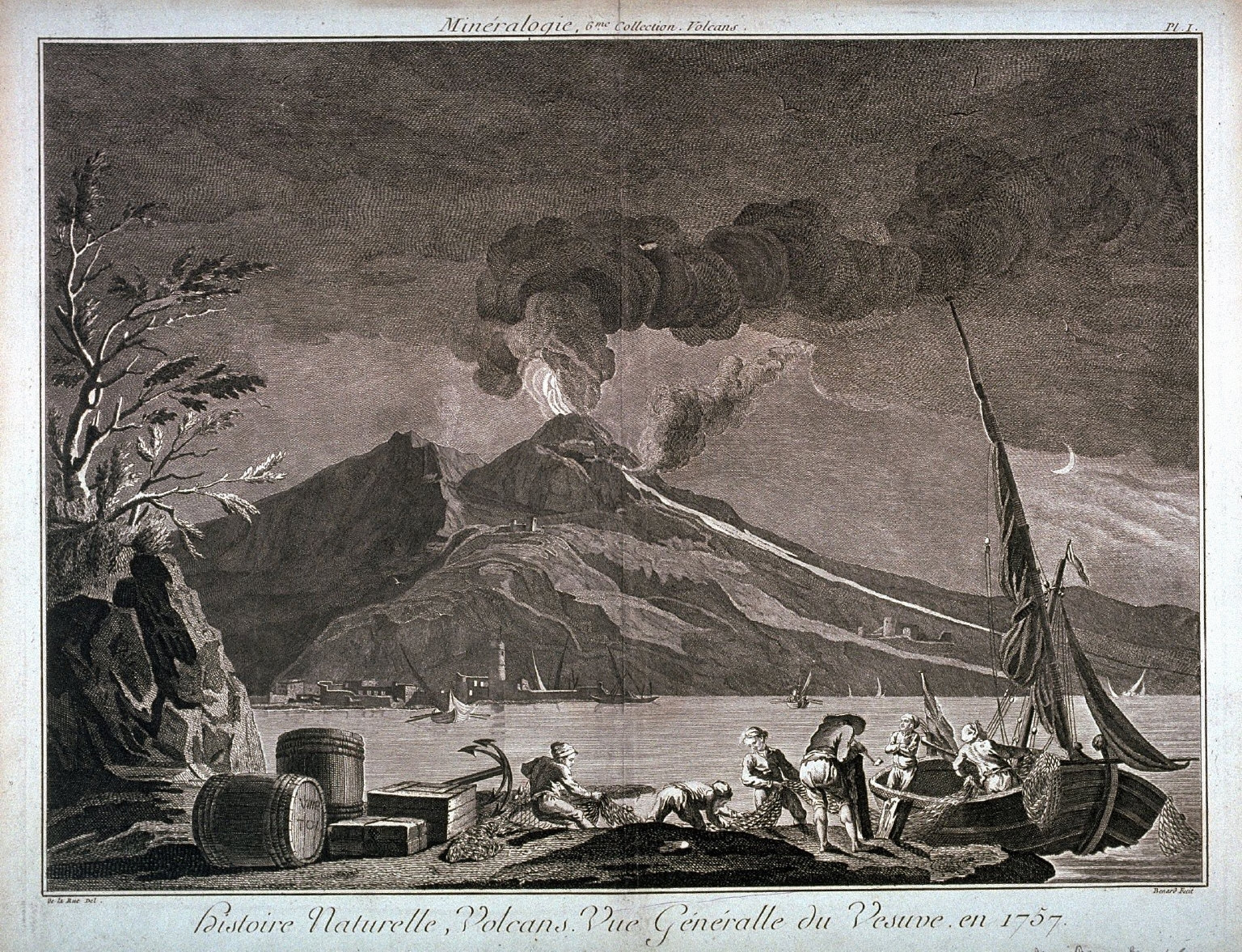Vue Generalle du Vesuve, en 1757 (View of Vesuvius in 1757), pl. 1 from Minéralogie, 6me Collection. Volcans