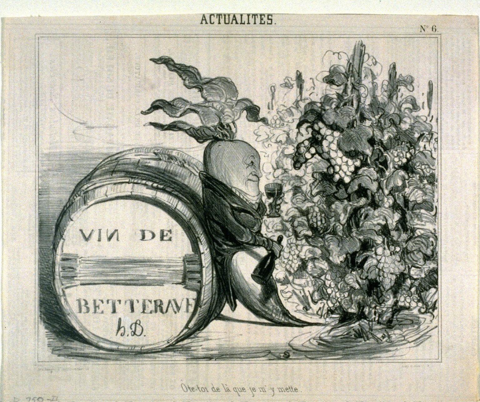 ?te-toi de là que je my mette.. no. 6 from the series ACTUALITÉS, published in Le Charivari 28 September 1839
