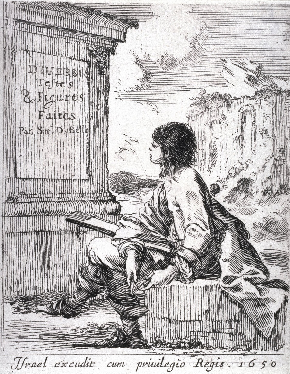 Title Page, from the series Diverses testes et figures