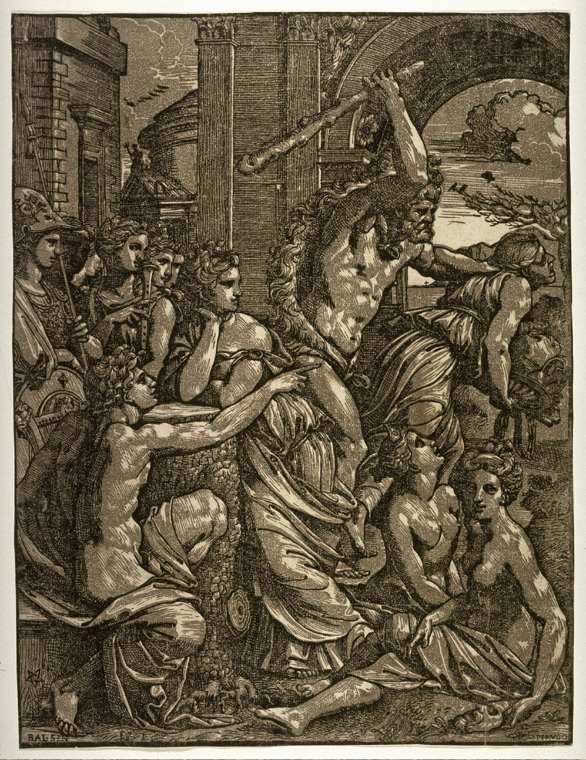 Envy Chased from the Temple of the Muses, after Baldassare Peruzzi