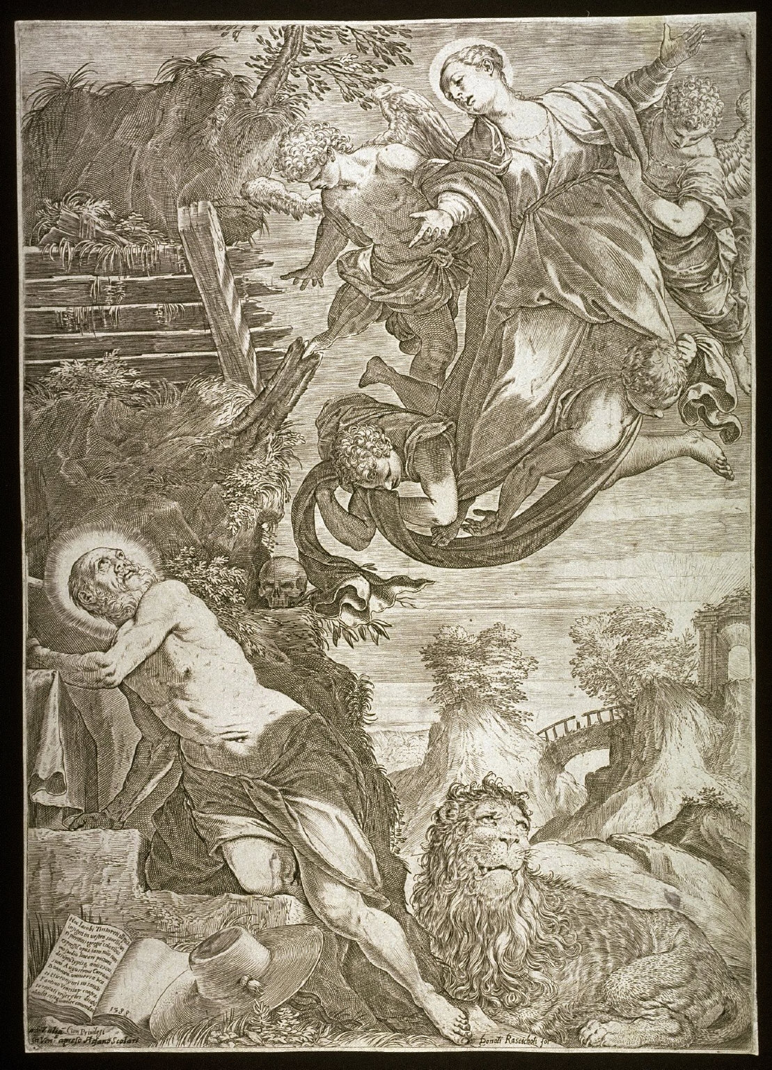 The Madonna Appearing to St. Jerome, after a painting by Tintoretto (Accademia, Venice)