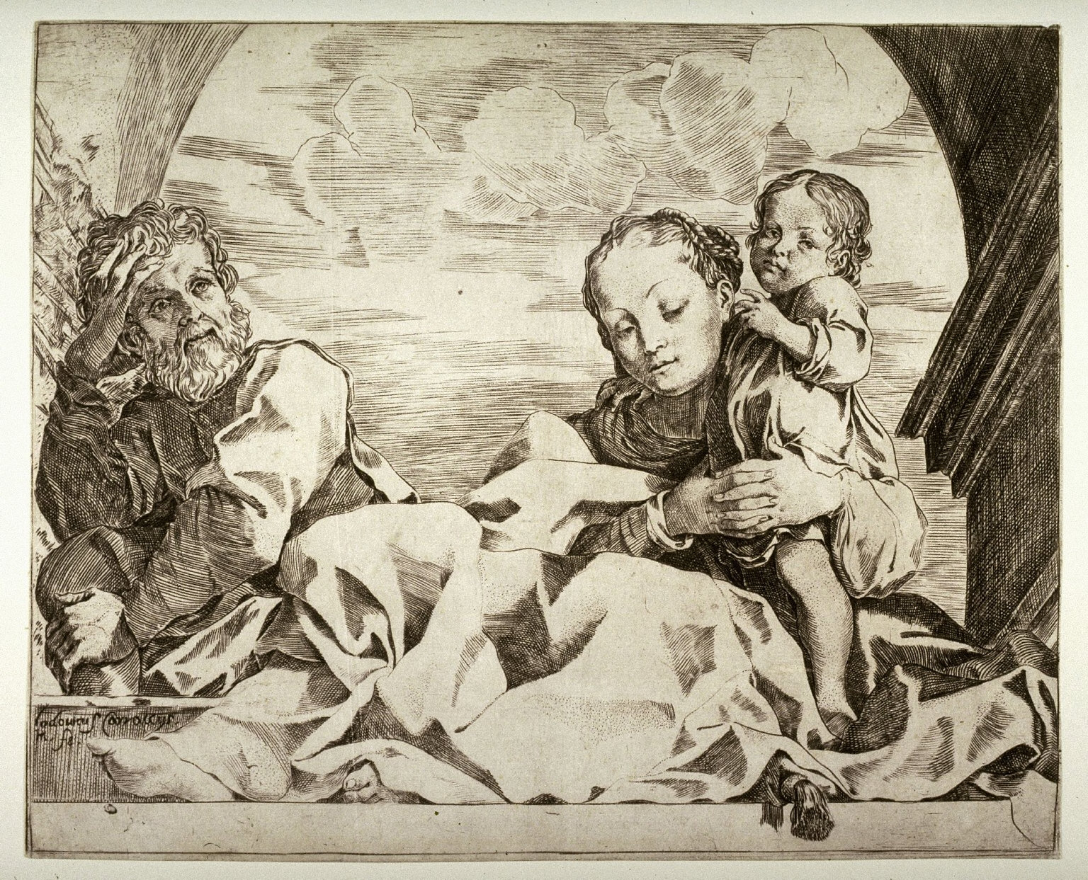 The Holy Family Under an Arch