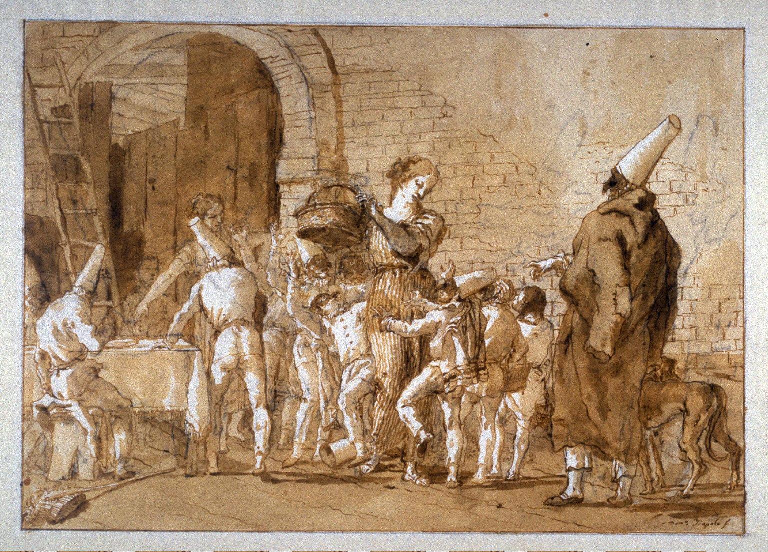 Punchinello's Children Begging for Sweets, no. 17 from the series Divertimento per gli ragazzi (Entertainment for Children)