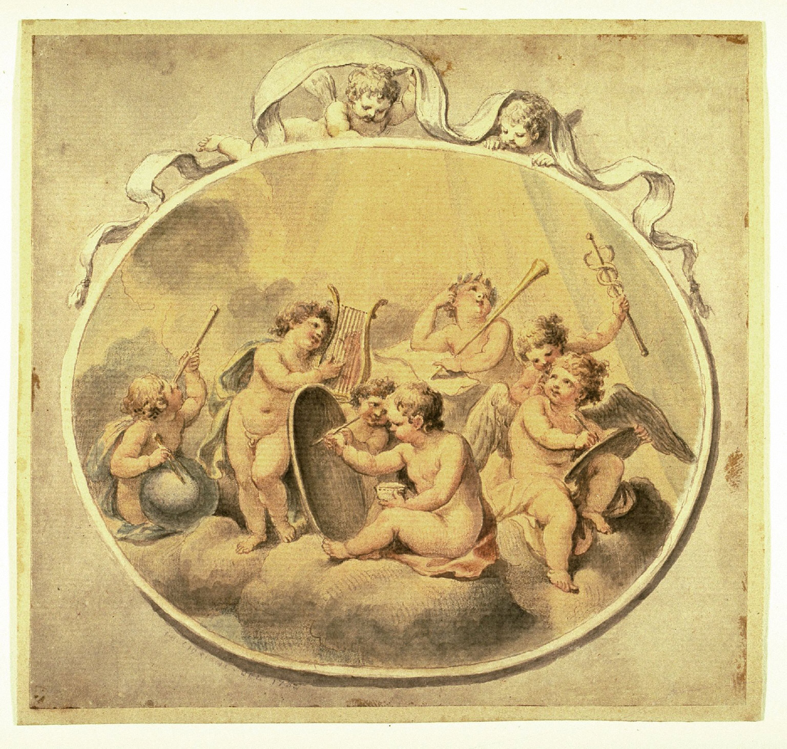 Seven Putti Representing the Arts