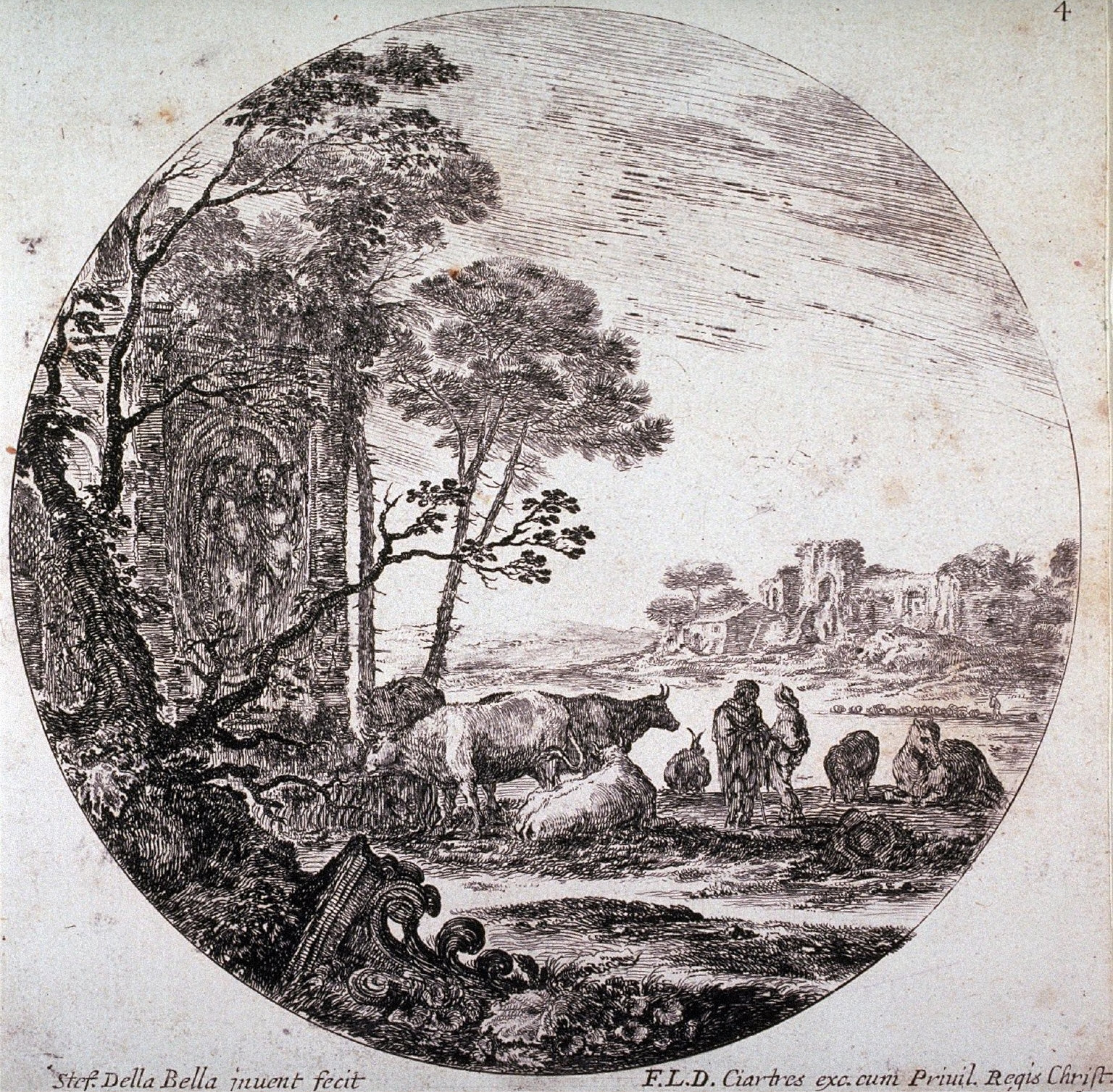 Ruins With a Corinthian Capital, from the series Landscapes and Ruins of Rome