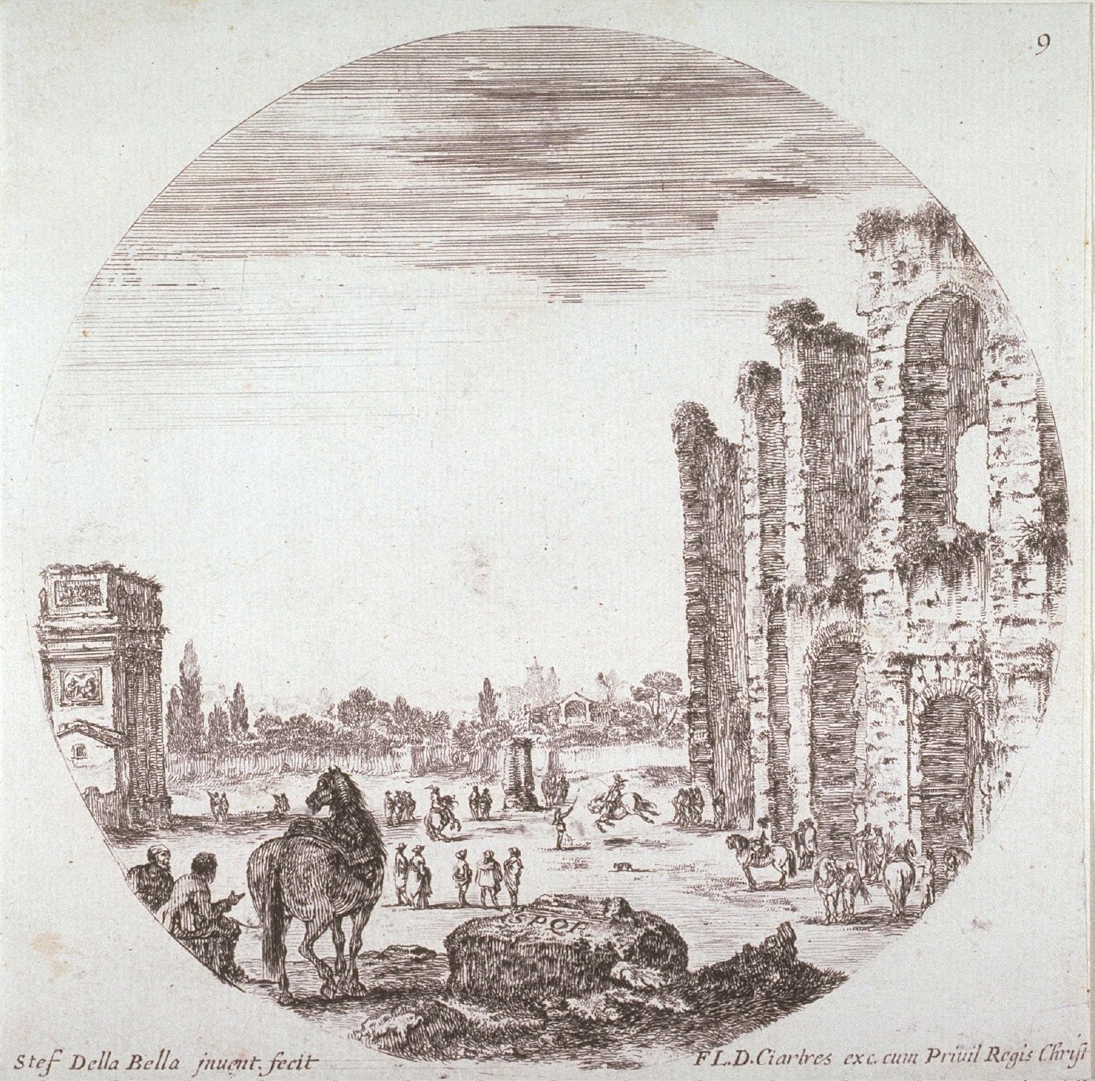 The Arch of Constantine and the Colosseum, from the series Landscapes and Ruins of Rome