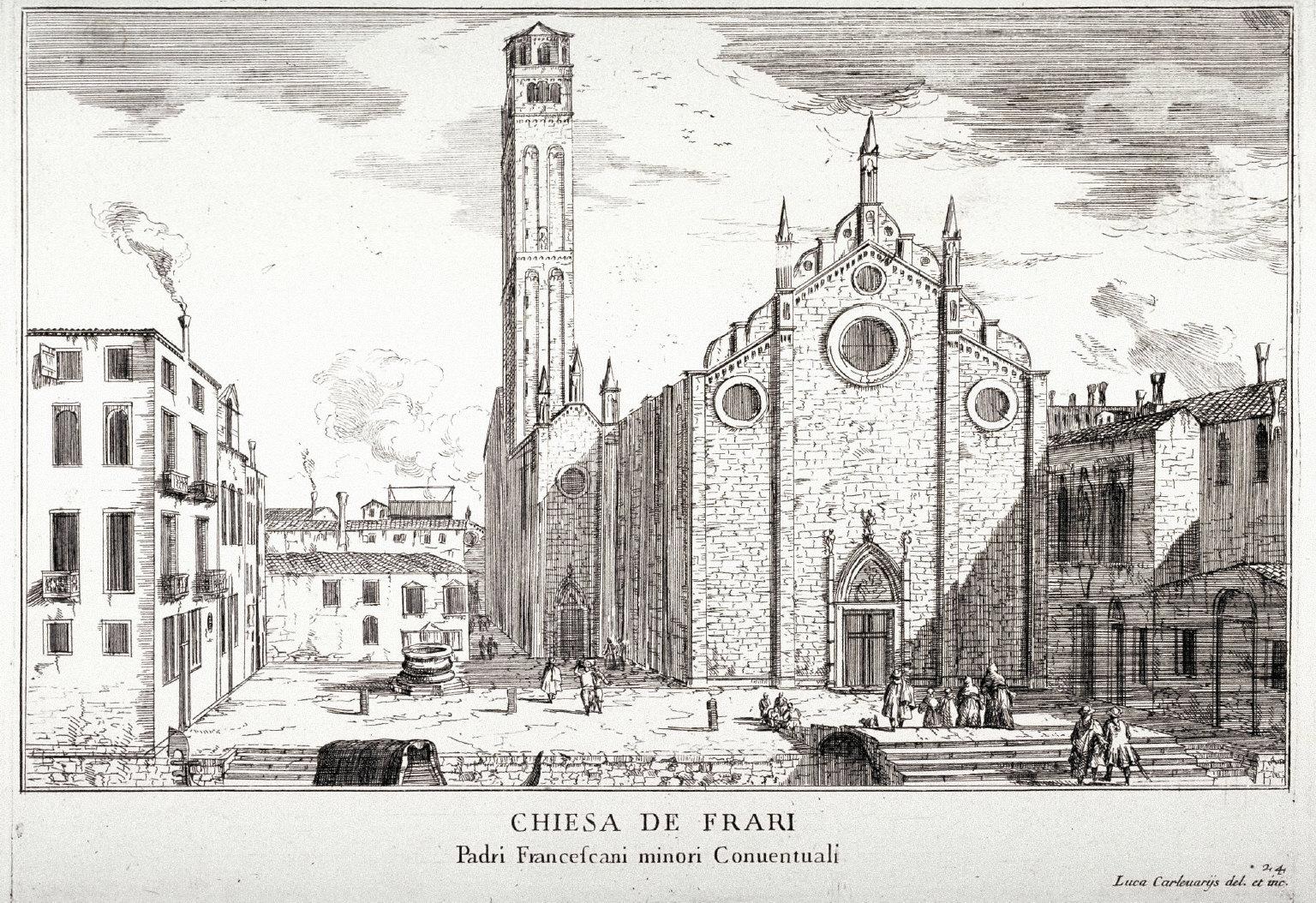 Chiesa de Frari, pl. 24 from the series Le fabriche e vedute di Venetia... (Buildings and Views of Venice)