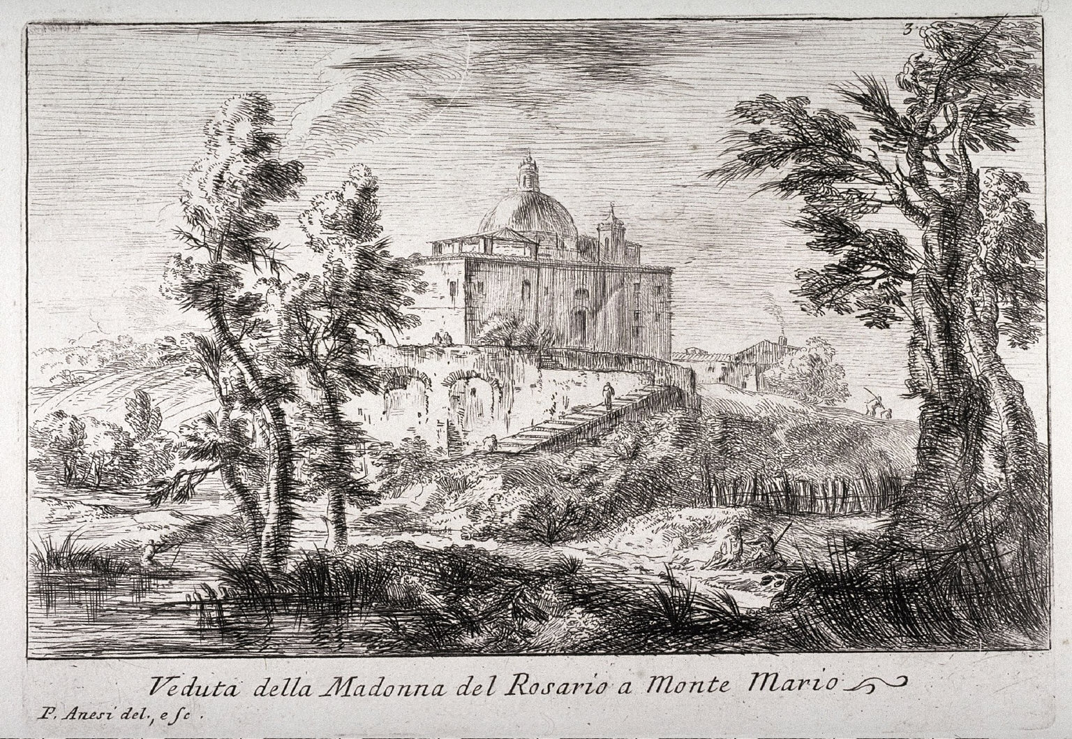 Veduta della Madonna del Rosario a Monte Maria, from the series Varie vedute di Roma (Different Views of Rome)