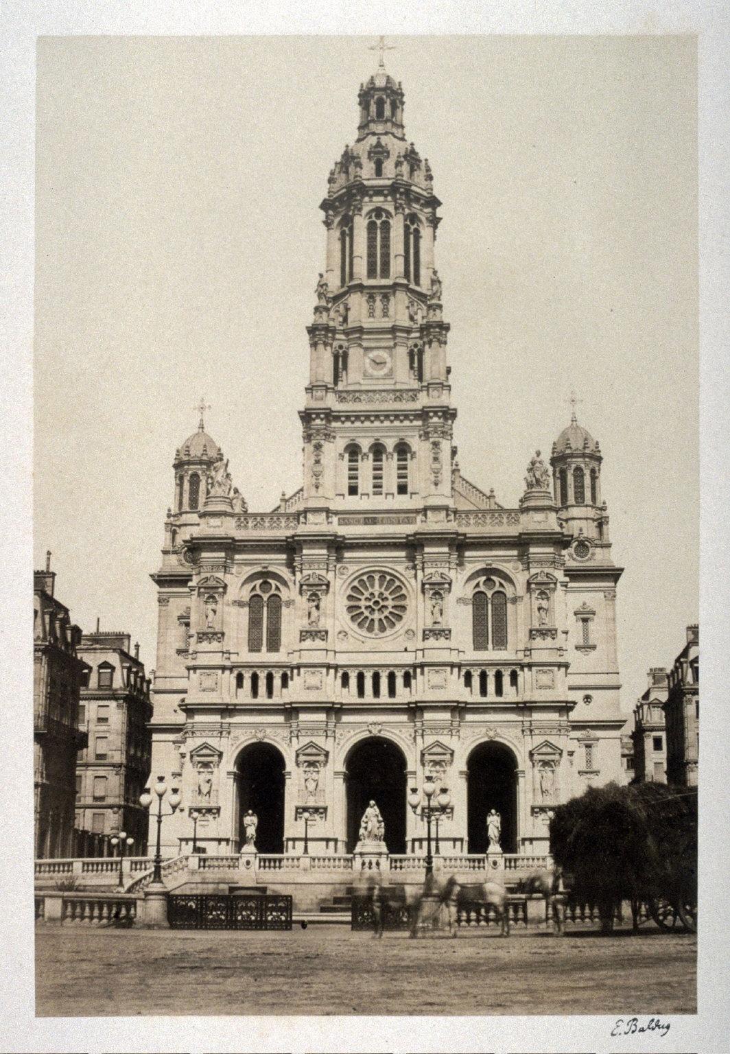 #18 Le Trinite (church) from 11 albumen prints from Vues de Paris en Photographie, 1858