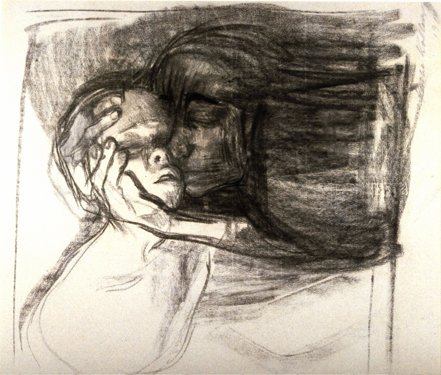 Abschied (Farewell), study for the etching, Tod, Frau und Kind (Death, Mother, and Child)